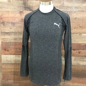 Puma Men's Athletic Long Sleeve Top Size S